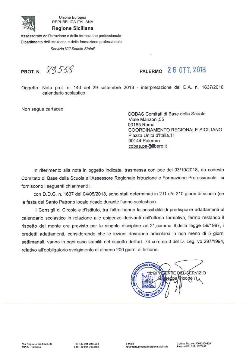 Calendario Regionale Scolastico Sicilia.Finalmente Chiarezza Sugli Adattamenti Del Calendario