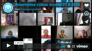 ASSEMBLEA COBAS SCUOLA 31/8/2020